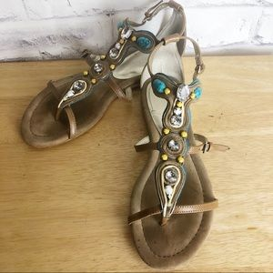 Beaded Donald J Pliner Bryce sandals